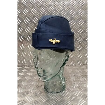 img-Genuine Military Issue Air Force Naval Flyers Side Cap Forage Cap With/Out Badge