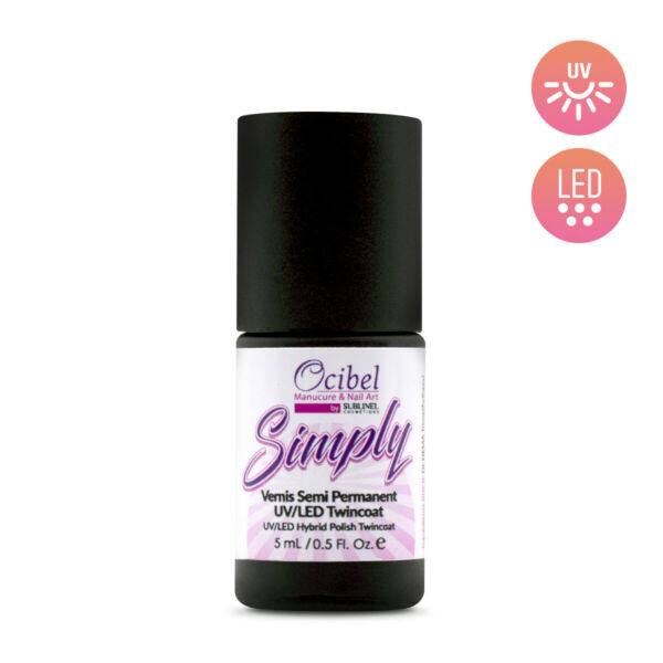 Vernis Semi Permanent UV / LED Simply 1 Couche 5ml