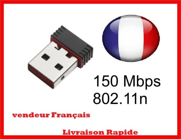 MINI CLE WIFI USB Adaptateur Sans Fil Dongle Réseau Wireless 150Mbps 802.11n/g/