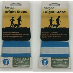 2 X PACK OF 4 BRIGHT REFLECTIVE DOG PET LEG BANDS HIGH VISIBILITY GLOW- LARGE