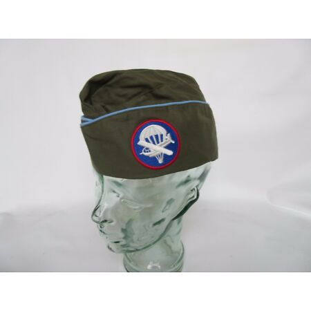 img-US Army Officer`S Od Garrison Cap Shuttle Paratrooper Glider Blue Pipe WWII