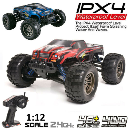 1:12 2.4G High Speed Alloy RC Monster Truck Remote Control Off Road Car RTR Toy~