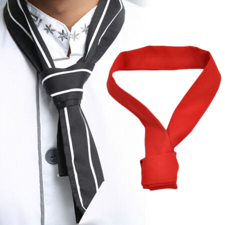 img-Chef Neck Tie Neckerchief Scarf Restaurant Hotel Waiter Sweat Towel Striking
