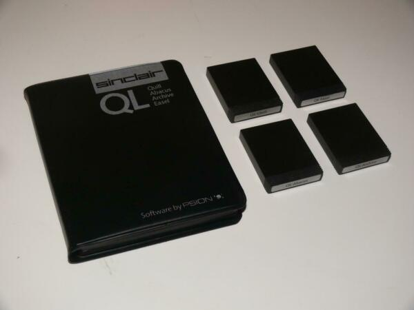 Sinclair QL ~ Original Microdrive Pack ~ Quill/Easel/Abacus/Archive~(2)~(Ref:RC)