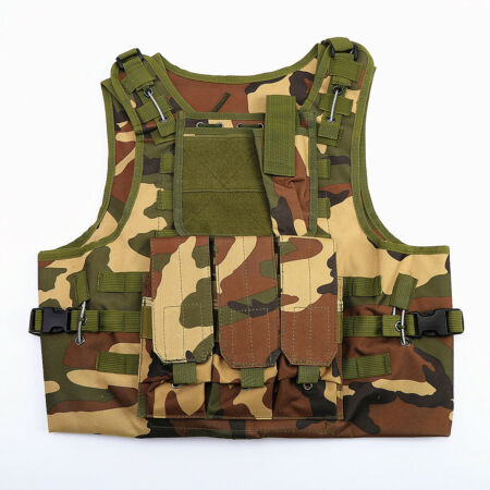 img-Tactical Military Vest Airsoft Combat Army Plate Carrier Adjustable Vest UK