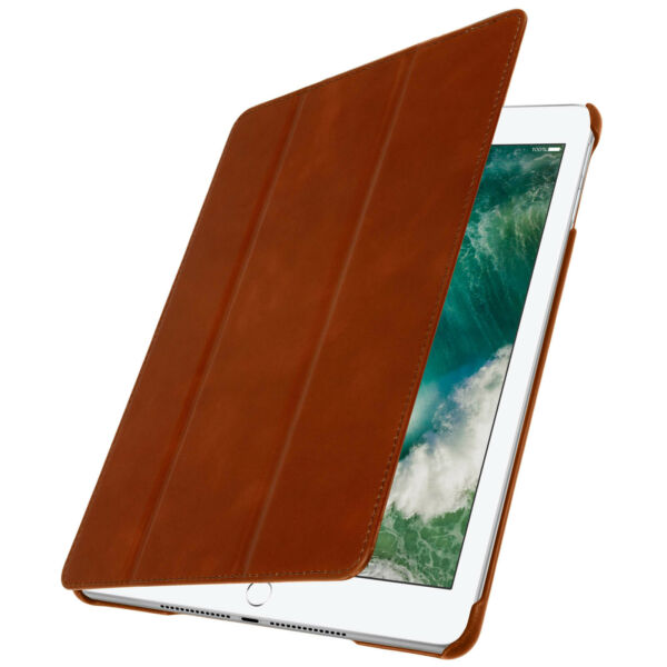 Montreuil,FranceHousse iPad 9.7 (2017) Etui Trifold s Cuir Marron - 2 Mode Support