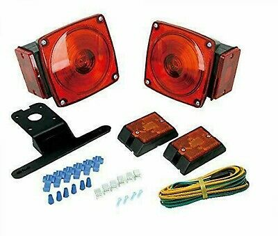 Rear Submersible Trailer Tail Lights Kit Boat Marker Truck Round Waterproof 12V