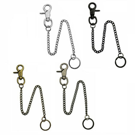 img-Extra Long Strong Metal Hipster Key Wallet Belt Ring Clip Chain keychain
