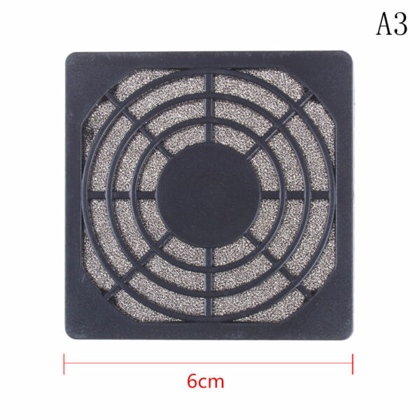 Dustproof 60mm Mesh Case Cooler Fan Dust Filter Cover Grill for PC Computers  YI