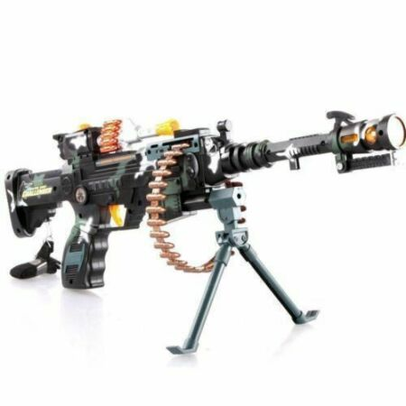 img-Kids Combat 3 Army Commando Machine Gun Pistol With Lights And Sounds Toy Gift