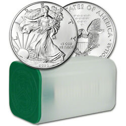 Kyпить 2020 American Silver Eagle 1 oz $1 - 1 Roll - Twenty 20 BU Coins in Mint Tube на еВаy.соm