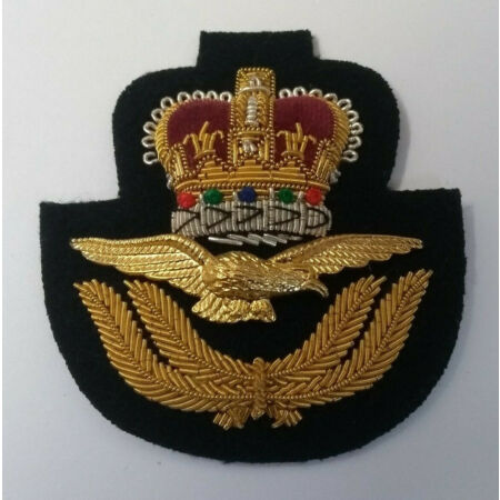 img-Genuine British Royal Air Force RAF Officer Issue Braided Insignia Hat Badge NEW