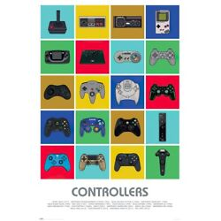 Kyпить GAME CONSOLE CONTROLLERS - GAMING POSTER (20 CLASSIC TO NEW CONTROLLERS) на еВаy.соm