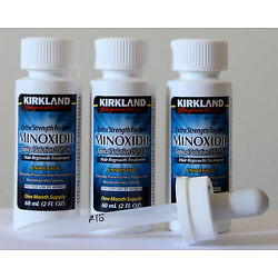 Kyпить Kirkland Minoxidil 5% Extra Strength Men Hair Regrowth Solution 3 Month 11/2022 на еВаy.соm