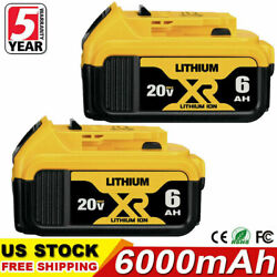 Kyпить For DeWalt 20V 20 Volt Max XR 6.0AH Lithium Ion Battery DCB206-2 DCB205-2 2 Pack на еВаy.соm