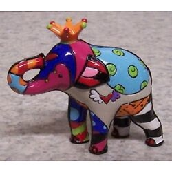 Figurine Romero Britto Animal Lucky Elephant 1st First Edition NEW with gift box