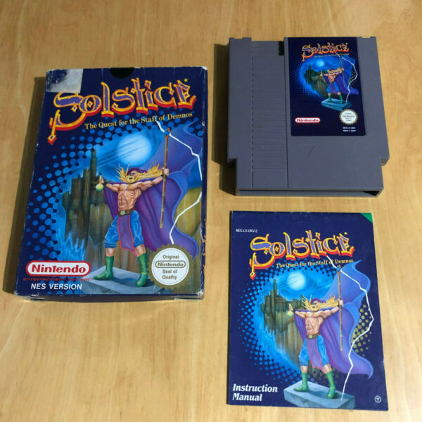 Nintendo NES Boxed Game Complete - Solstice: The Quest for the Staff of Demnos