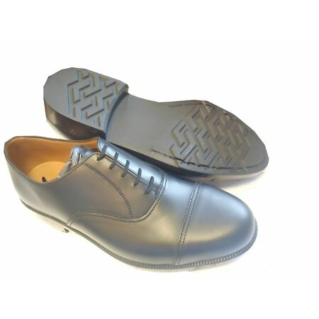 img-Black Leather Service Shoes - With Toe Cap - Brand New in Box - Various Sizes