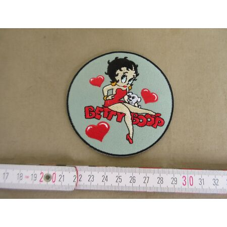 img-Betty Boop Hearts Pin-Up Patch US Army Rockabilly Nose Art Baseball Jacket