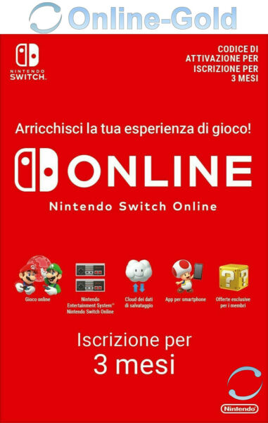 Nintendo Switch Online Individual Membri 3 mesi (90 giorni) Download Codice [IT]