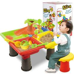 Kids Outdoor/Indoor Sand and Water Table Play Set Toys Beach Sandpit Summer