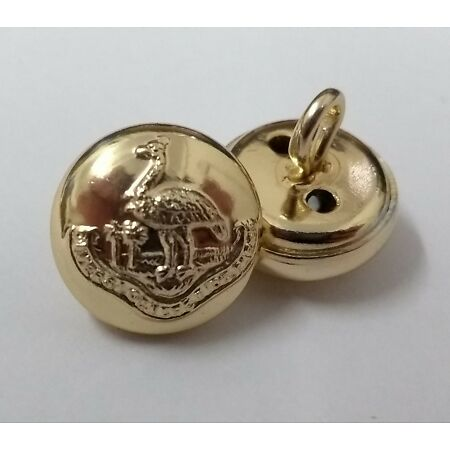img-Genuine Zambian Army Issue Ring Back Insignia Cap Buttons 22L 14mm ASBT155