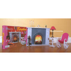 Kyпить GLORIA DOLLHOUSE BARBIE FURNITURE Size FIREPLACE PlaySet W Chair & Table (96006) на еВаy.соm