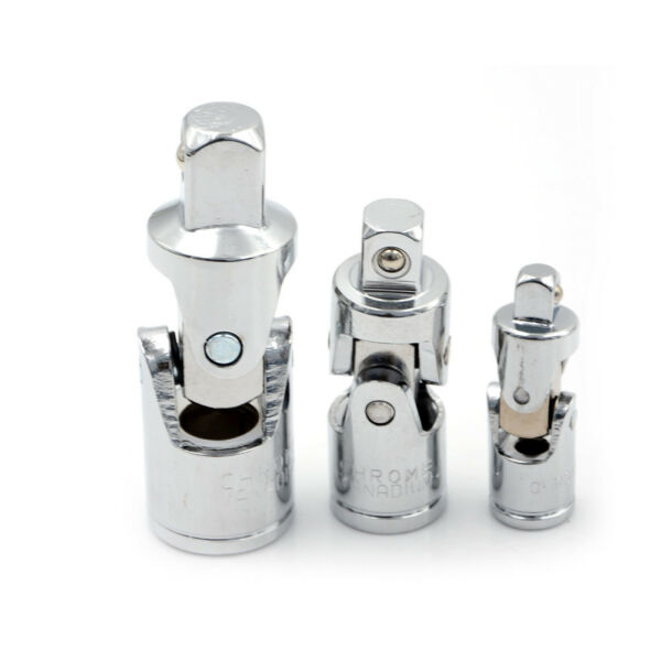 Universal Joint Set 4 Square Drive Ratchet Sockets Adapters 1/4