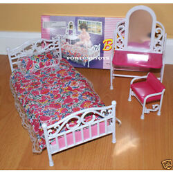 Kyпить GLORIA FURNITURE Size BEAUTY BEDROOM W/ MIRROR PILLOW PLAY SET FOR DOLL HOUSE на еВаy.соm