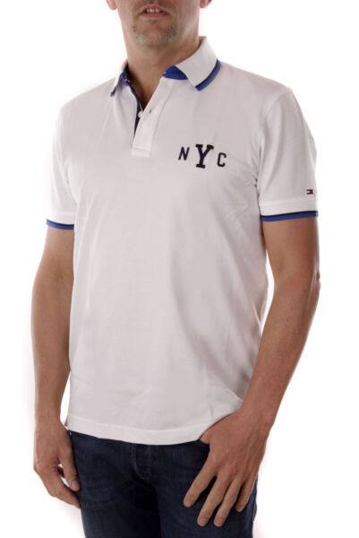 AllemagneTommy Hilfiger Polo Homme Wcc Avery A Pointe Polo Ajustement Régulier Blanc