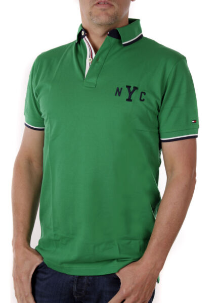 AllemagneTommy Hilfiger Polo Homme Wcc Avery A Pointe Polo Ajustement Régulier Vert