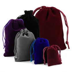 Kyпить 25-100 Velvet Drawstring Pouch Xmas Jewelry Baggie Ring Gift Bags Wedding Favors на еВаy.соm