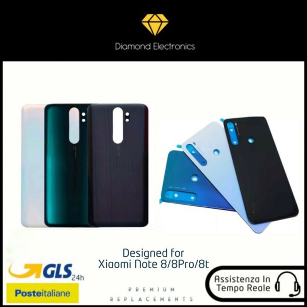 🔝 Vetro Posteriore Scocca Back Battery Cover Xiaomi Redmi Mi Note 8 8 Pro 8t