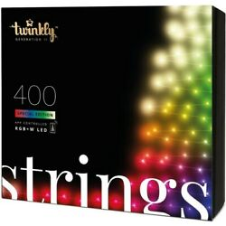 Kyпить Twinkly App Control String Light With 400 Multicolor RGB+W LED Lights на еВаy.соm