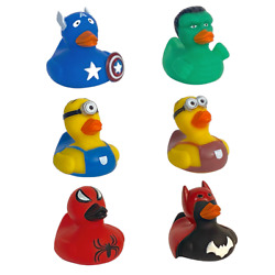 Kyпить Super Hero and Minions Rubber Duck (Pack of 6) на еВаy.соm