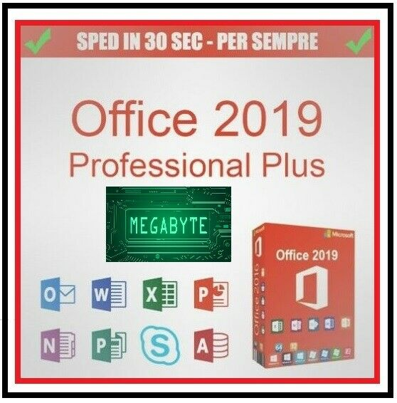 LICENZA MICROSOFT OFFICE 2019 PROFESSIONAL PLUS 32 / 64 BIT CODICE ORIGINALE ESD