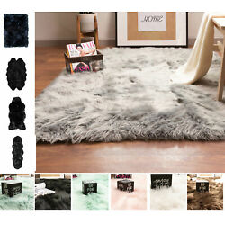 Kyпить Faux Fur Fluffy Shag Rug Long Pile Washable Non-Skid Furry Carpet in Many Sizes на еВаy.соm