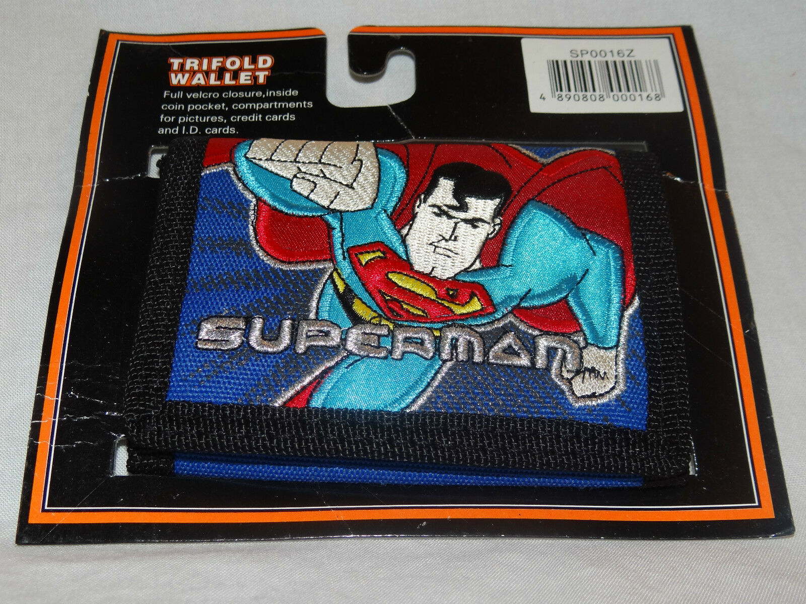 EAN 4890808000168 product image for In Package Superman Kids Blue Trifold Wallet   upcitemdb.com