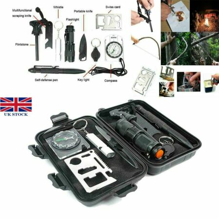 img-10 in 1 SOS Outdoor Kit Emergency Equipment Box Camping Survival Gear Kit