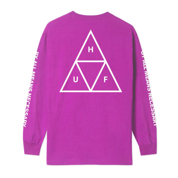 Royaume-UniHuf Essentials Triple Triangle T-shirt Long Sleeve -  Pink All Sizes