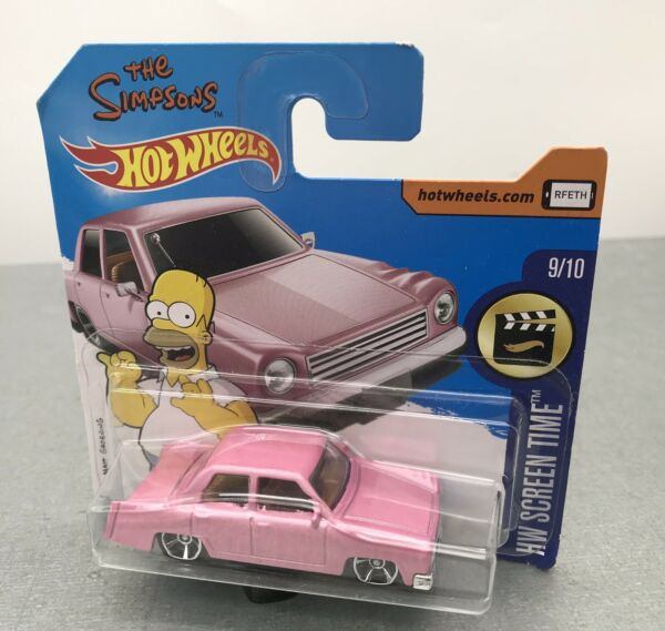 Nantes,FranceVoiture The Simpson Model Car The Simpsons Family Car  Mattel 2014 1/64