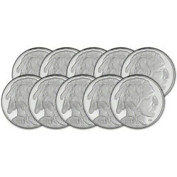 Kyпить TEN (10) 1 oz. Highland Mint Silver Round 2021 Buffalo Design .999 Fine на еВаy.соm