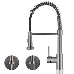 Kyпить Stainless Steel Kitchen Sink Faucet Single Handle Spring Pull Down Sprayer Mixer на еВаy.соm
