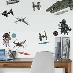 Star Wars Episode IX Ships RoomMates Vinyl Wall Bedroom 27 Removable Stickers