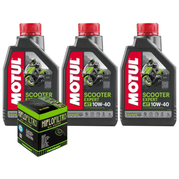 ItalieEntretien Huile Motul Scooter Expert 10W40 pour Yamaha YP125R Xmax  ABS