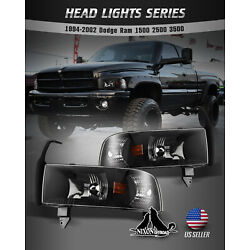 Kyпить For 94-01 Dodge Ram 1500 2500 3500 Headlights Replacement Assembly Front Lamps на еВаy.соm