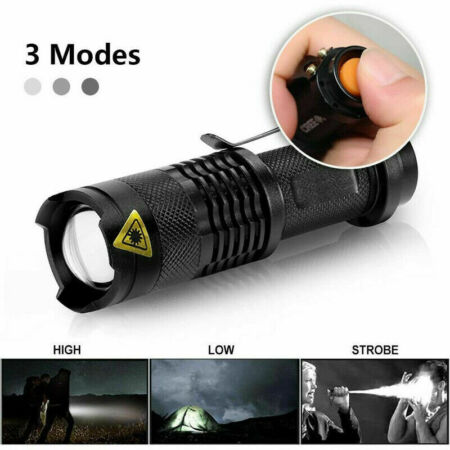 img-Tactical Police Flashlight LED Torch Light Military Outdoor Hiking Camping Lamp