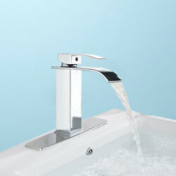 "Kyпить Chrome Bathroom Sink Faucet Basin Vanity Waterfall Spout Mixer Tap w/10"" Cover на еВаy.соm"