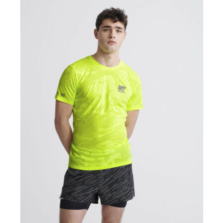img-Superdry Mens Training Breathable Camo T-Shirt