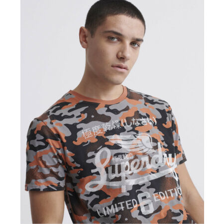 img-Superdry Mens All Over Print Lite T-Shirt